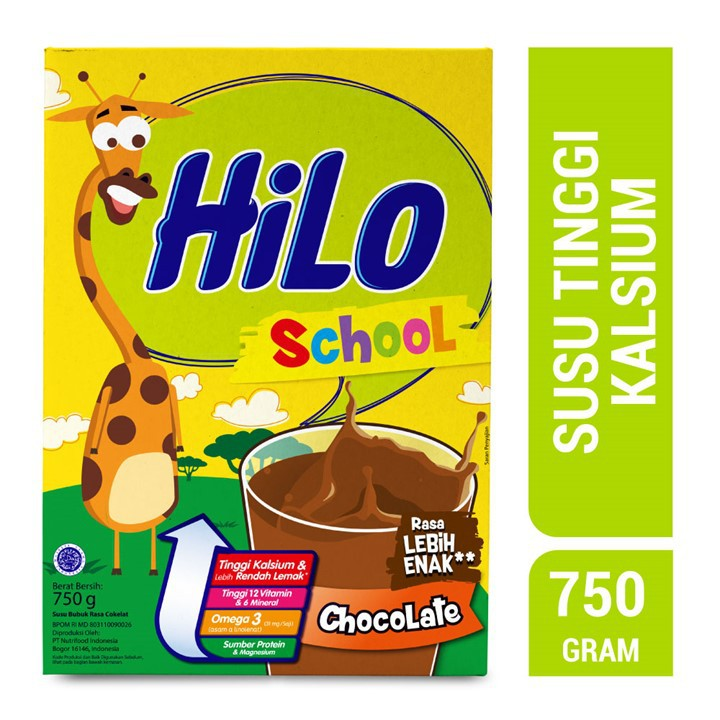 Hilo School Chocolate 750g Shopee Indonesia