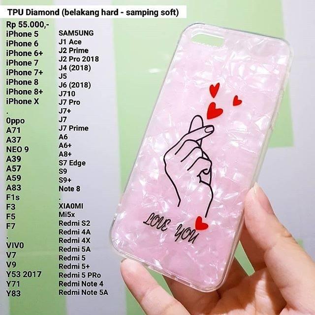 Tpu Diamond Saranghae Finger Love Case Shopee Indonesia