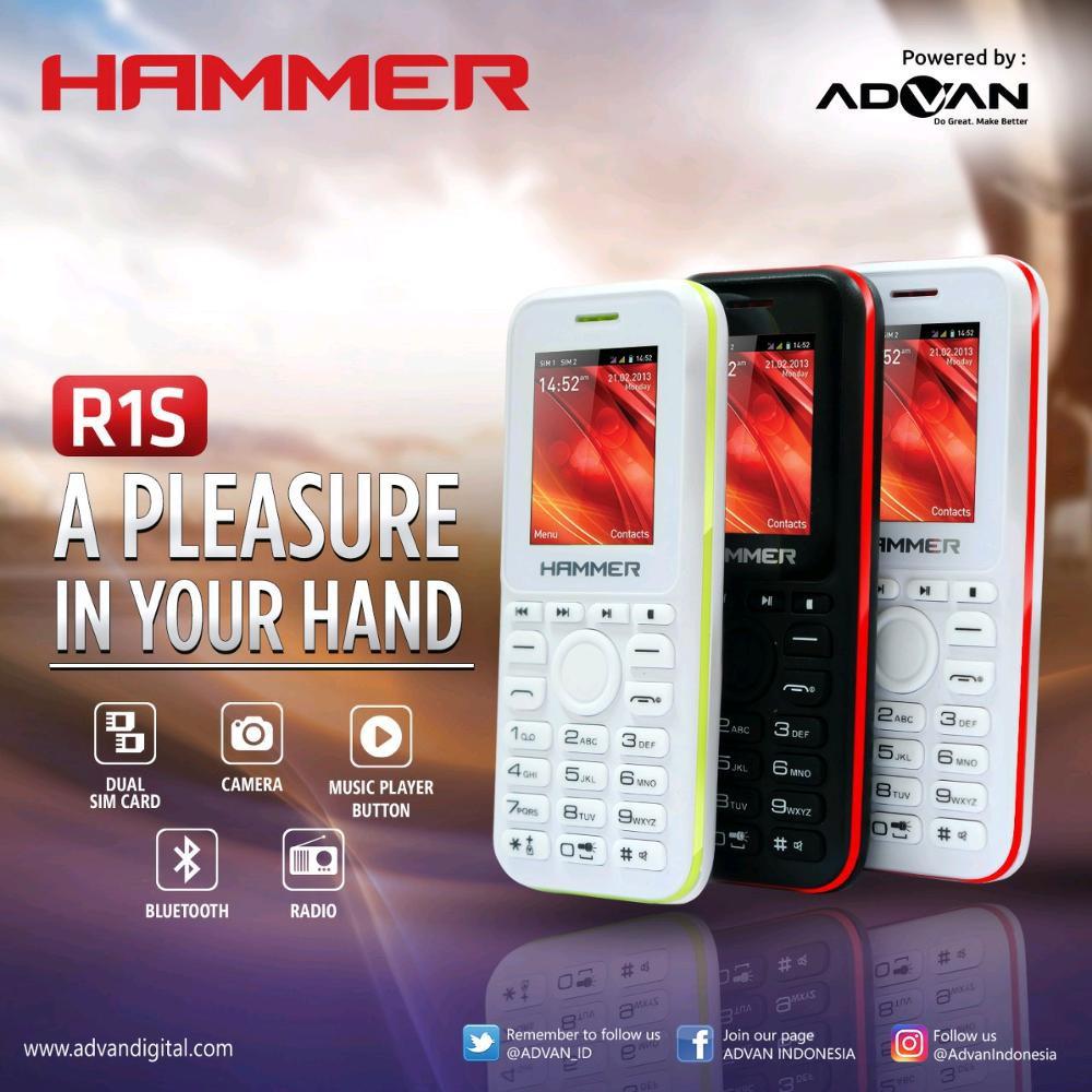 Hp Baru Advan Hammer R1s Dual Sim New Camera Shopee Indonesia Polytron Quadra V5 W7550 Smartphone Android