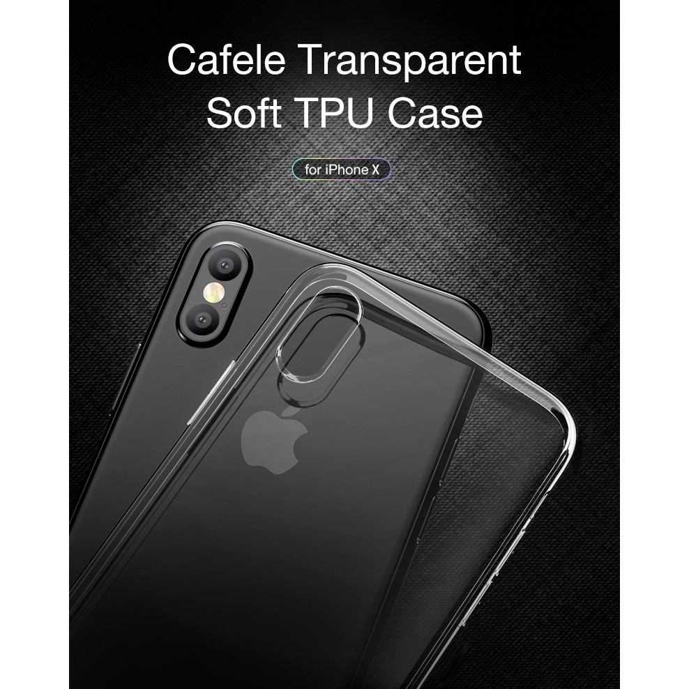 Cafele Original Iphone X Soft Tpu Transparent Shopee Indonesia