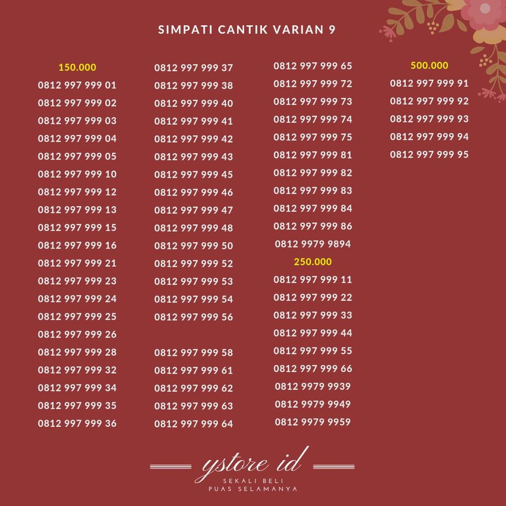 Nomor Cantik Simpati hexa 3 ( 0812 99 333333 ) | Nomor cantik telkomsel simpati murah di kelasnya | Shopee Indonesia