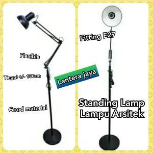 Unik Lampu Belajar Arsitek Model Berdiri Standing Lantai Tinggi 175cm Murah   Shopee Indonesia