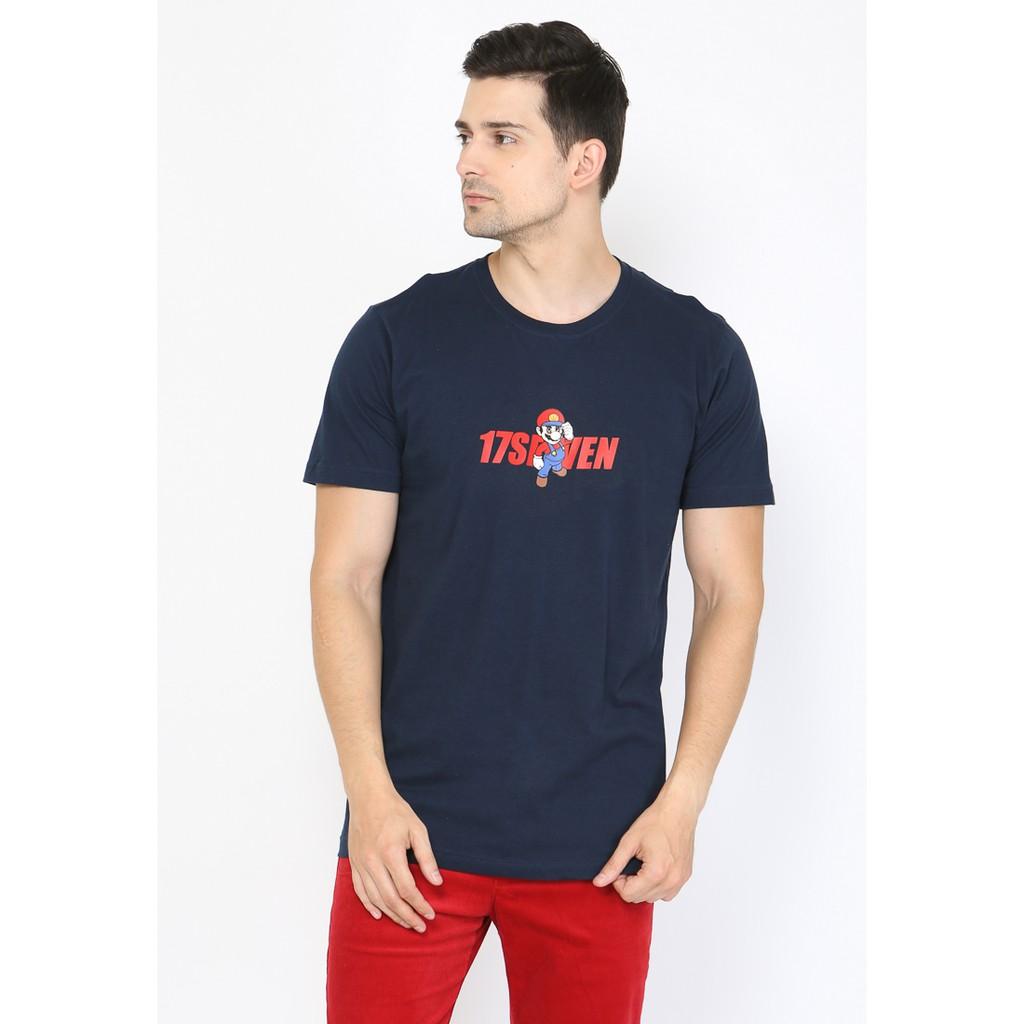 17seven Tees Rainbow Navy Shopee Indonesia Eiger Riding Ride Classic Ol T Shirt Kaos Pria S
