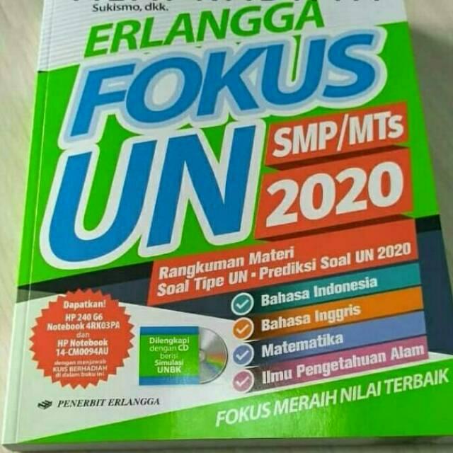 Best Seller Buku Erlangga Fokus Un 2020 Untuk Smp Dan Mts Plus Cd Unbk 2020 Kunci Jawaban Shopee Indonesia