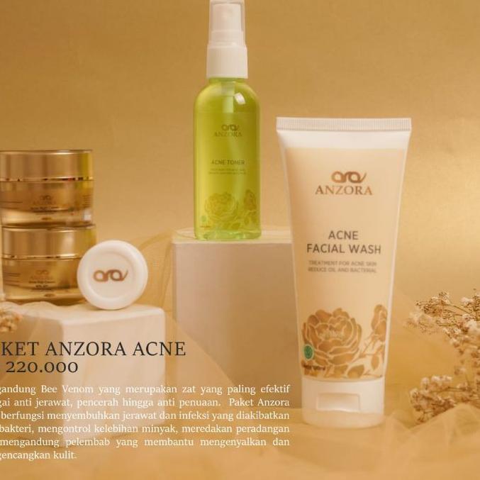 IES897 distributor resmi anzora skincare/anzora acne/anzora glow/jerawat/cream jerawat/paket ,..,..,