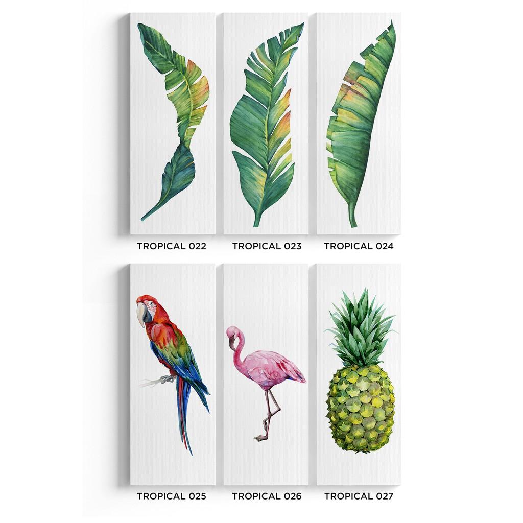 Dekorasi Daun Hiasan Dinding Rumah Tropical Poster Kanvas Banana Leaf 27x70cm Shopee Indonesia