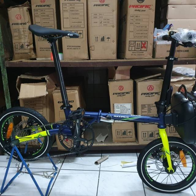 Sepeda Lipat Eg Custom Fnhon Gust 16 Like New Seli Custom Fnhon Gust Element Troy Izzy Shopee Indonesia