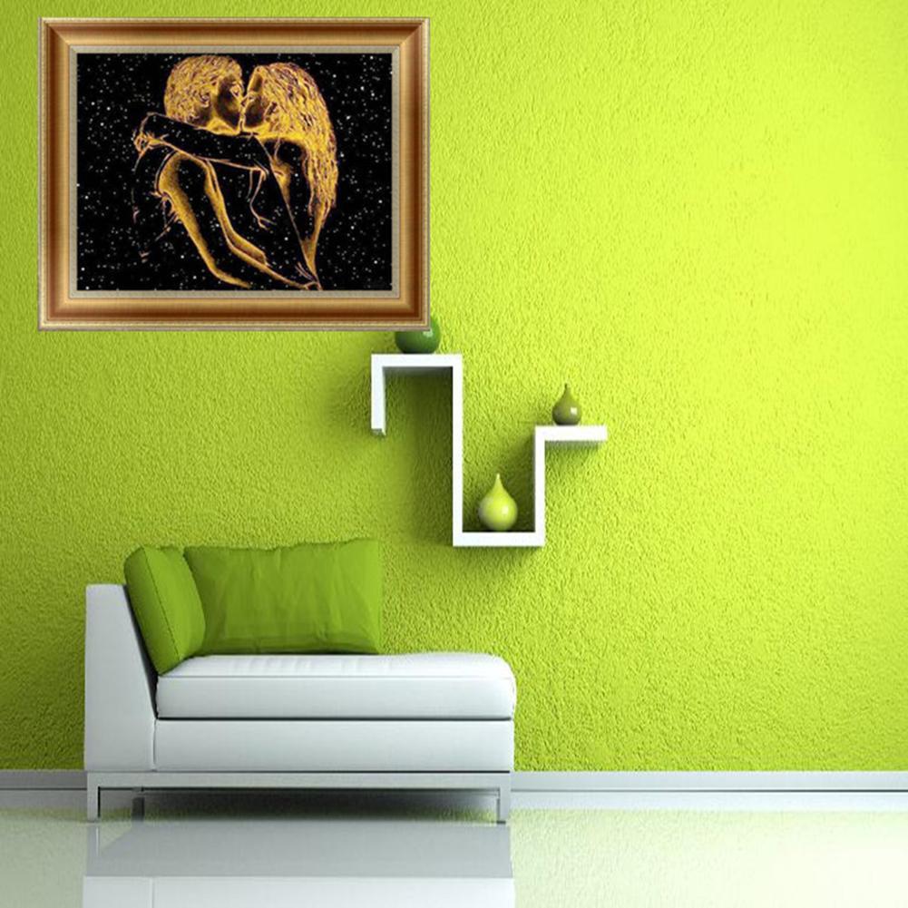 【 COD 】 Lukisan Diamond 5D DIY Gambar Pasangan Kekasih Untuk Dekorasi Rumah