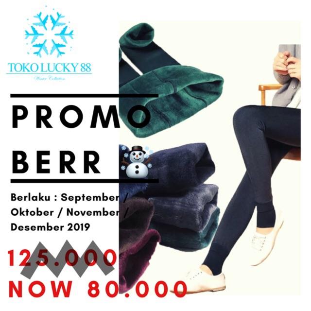 Import Celana Legging Thermal Lapis Bulu Winter Musim Dingin Shopee Indonesia