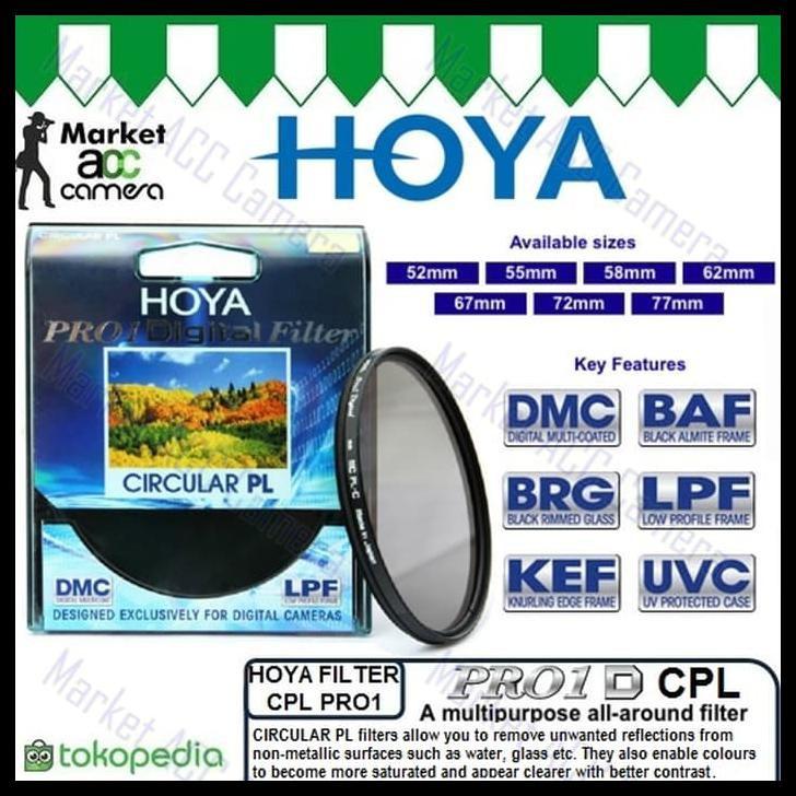 Multithreaded Glass Filter Circular Polarizer For Sony Alpha A6000 Multicoated C-PL 55mm