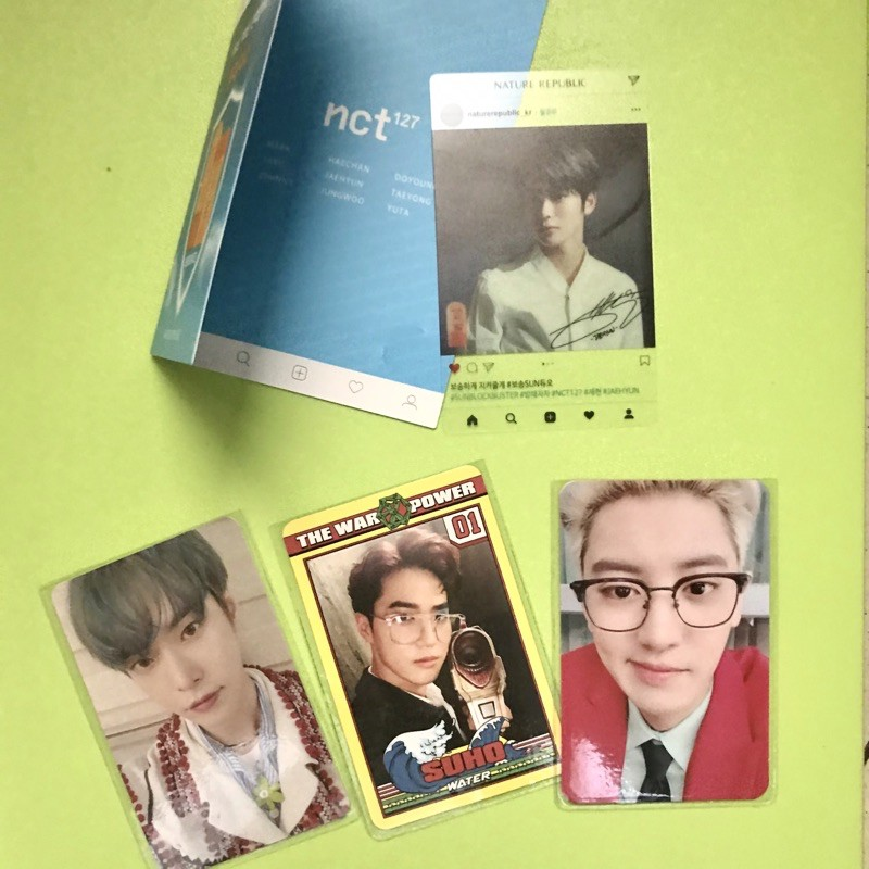 WTS PC CHANYEOL JASMER SUHO POWER TRANSPARENT JAEHYUN NATURE REPUBLIC