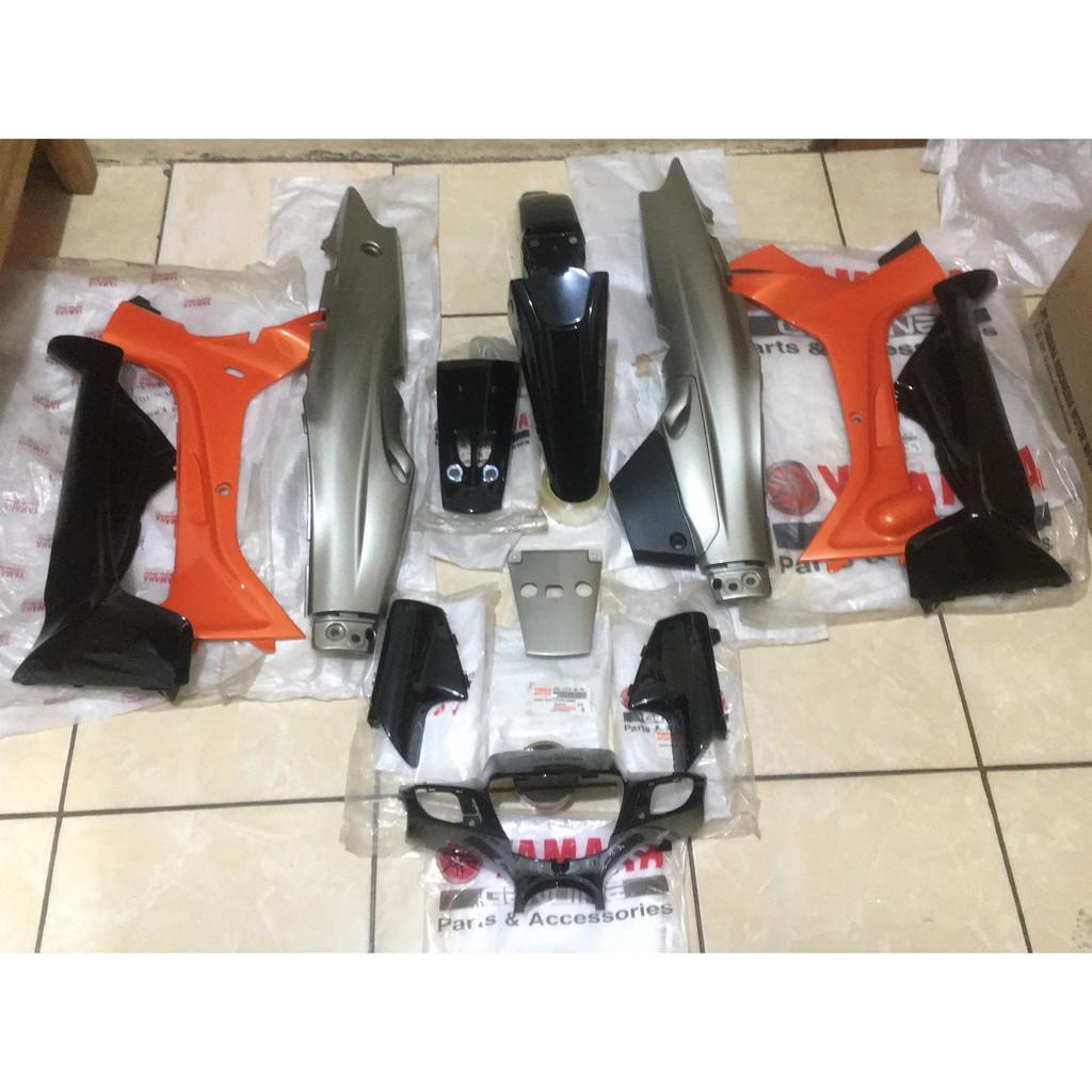 Cover Body Halus Fullset Yamaha F1ZR FIZR FISR Millenium Hitam Orange Original Plus Behel Belakang