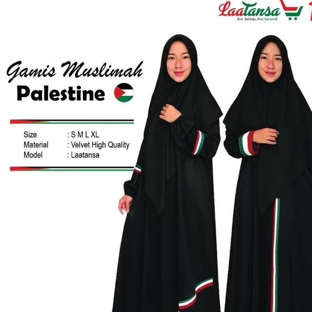 Gamis Muslimah Palestina Gamis Palestine Keren Adem Dan Elegan