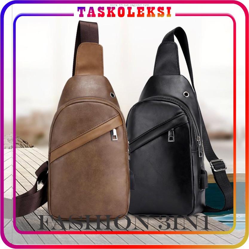 ☛TK☚ P046 Tas Ransel 3 In 1 USB Selempang Dompet HP Backpack Sling Bag Pria Wanita Murah Batam Korea   Shopee Indonesia