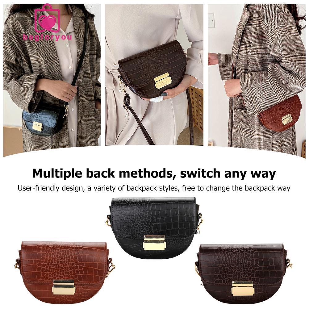 Small Crossbody Shoulder Bag Little Girl Messenger Bag Women Vintage PU Leather Purse