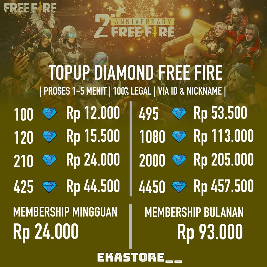 Diamond Freefire Shopee Indonesia