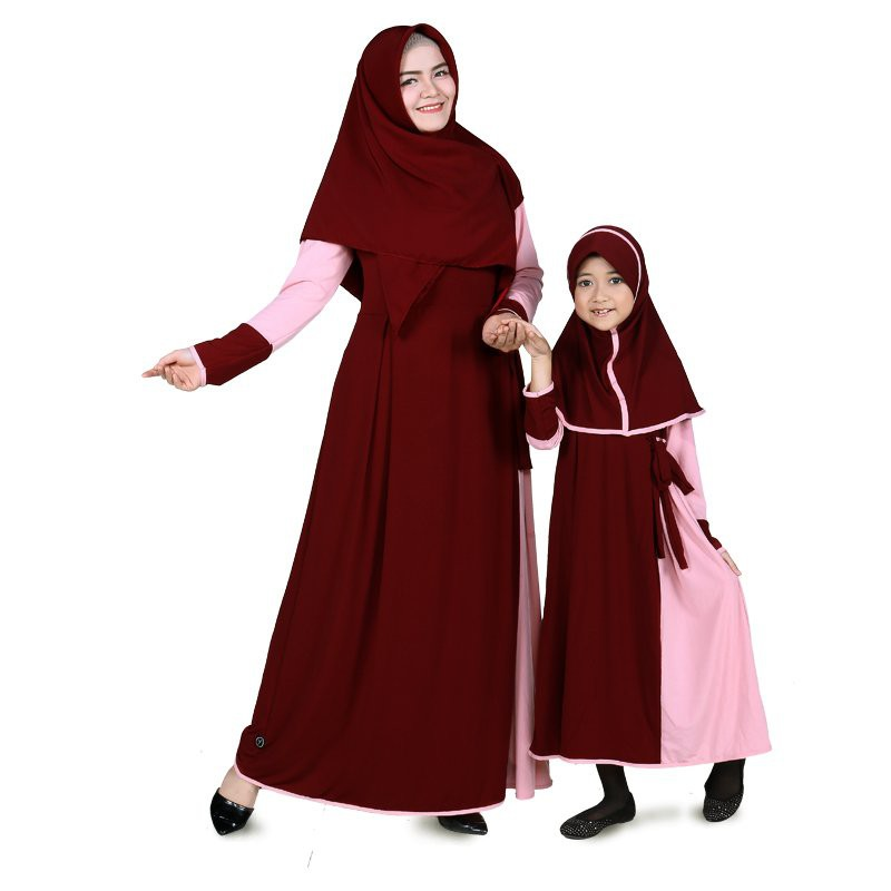 BAJUYULI - Baju Muslim Anak Perempuan Gamis Jersey Pink Turkish ... 47a89f3144