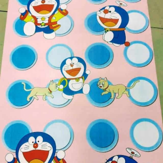 Grosir Murah Wallpaper Sticker Dinding Kartun Anak Doraemon Pink Polkadot Biru Putih Lucu Imut 10m Shopee Indonesia