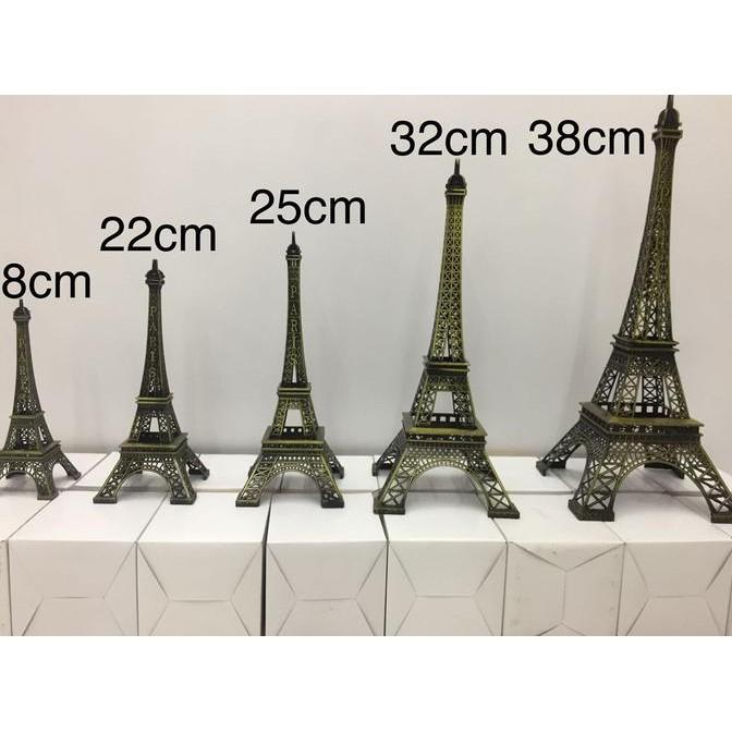 Segar Miniatur Menara Eiffel Paris 25 cm LOGAM BESI HADIAH KADO Limited | Shopee Indonesia