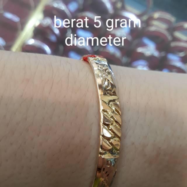 gelang emas kece berat 5 gram kadar muda