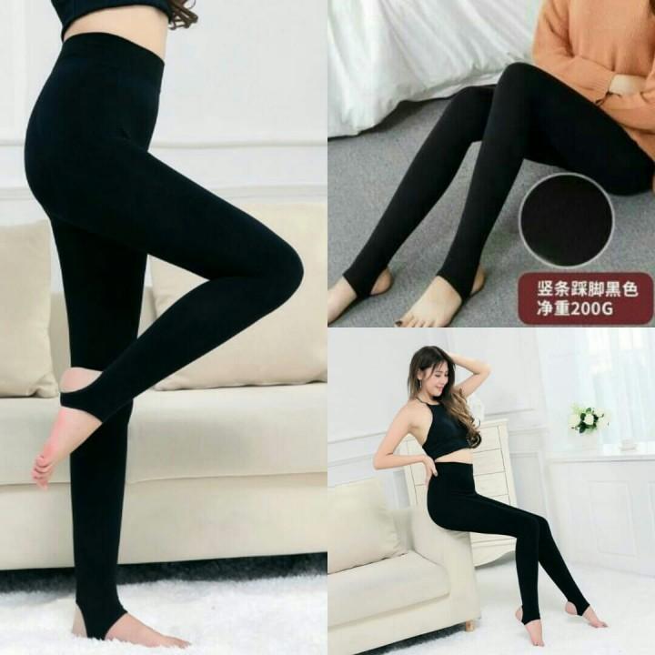 Celana Panjang Legging Injak Black Tathe 727 Shopee Indonesia