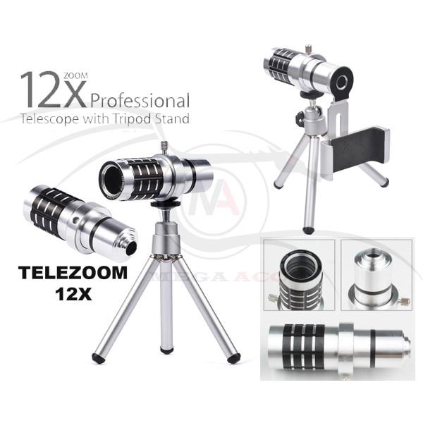Mobilephonetelescope Universal 8x Zoom Optical Camera Telephoto Telescope Lens Holder Iphone | Shopee Indonesia