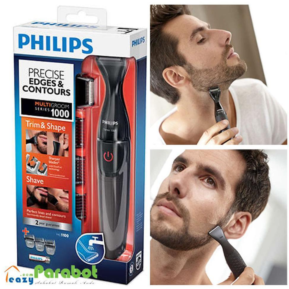 Philips Multigroom Mg1100 Pencukur Jenggot Jambang   Kumis Yg Presisi - Alat    Krim Cukur  7bdf740b08