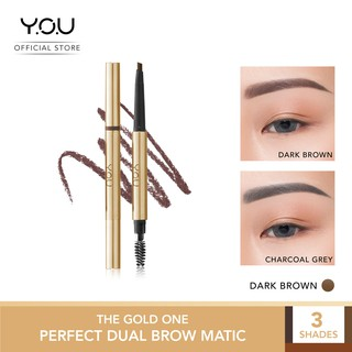 YOU The Gold One Perfect Dual Brow Matic [Waterproof & Smudge-proof]