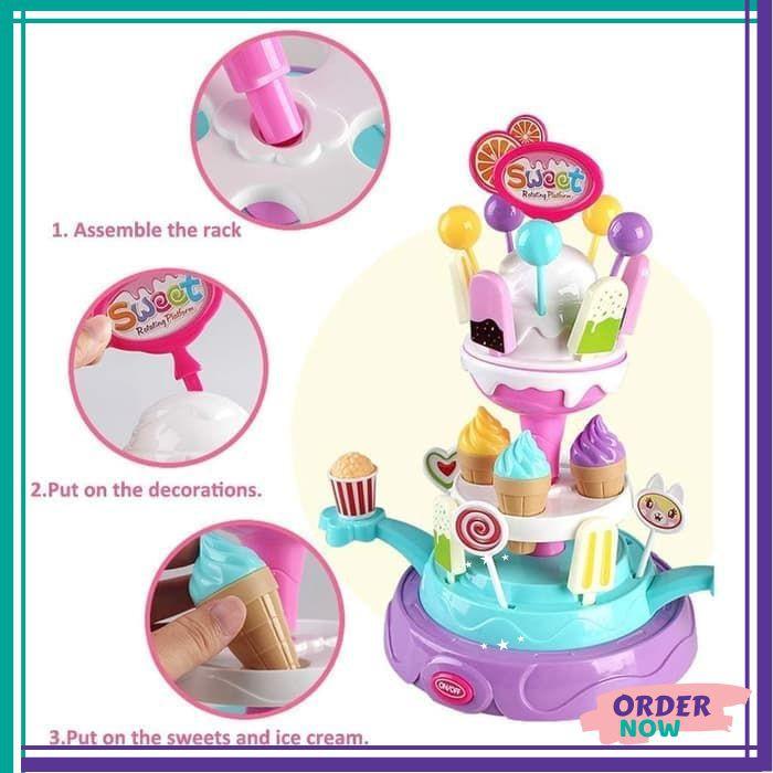 Mainan Menara Es Krim Anak Perempuan Murah Cewek Barbie Frozen Masak Masakan Edukasi Terbaru A72 Shopee Indonesia
