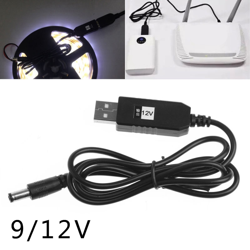 QC 2.0 boost CABLE USB Step Up TO 9v 12V FOR charging mobile power router