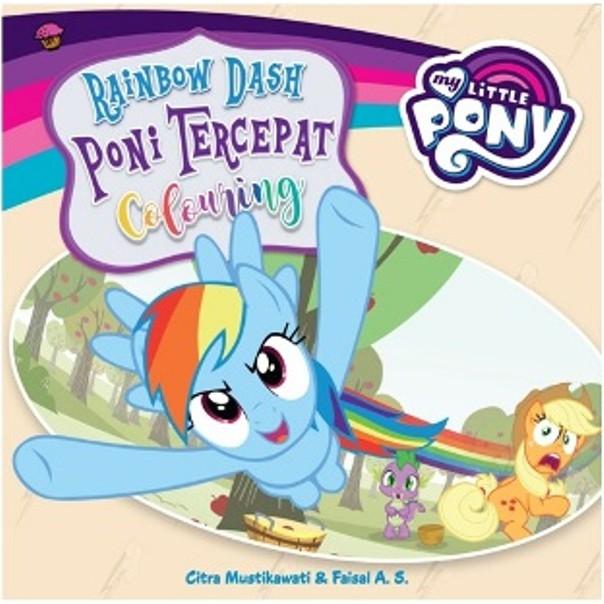My Little Pony Rainbow Dash Poni Tercepat Colouring Sc Shopee Indonesia
