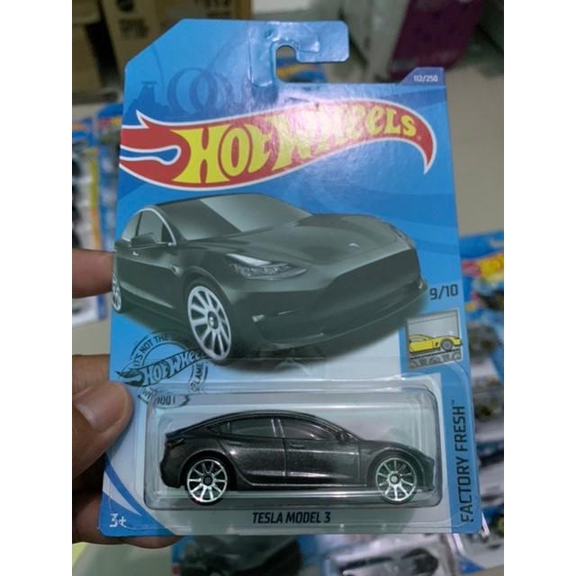 Hotwheels Murah Tesla Model 3 Silver B24 Shopee Indonesia