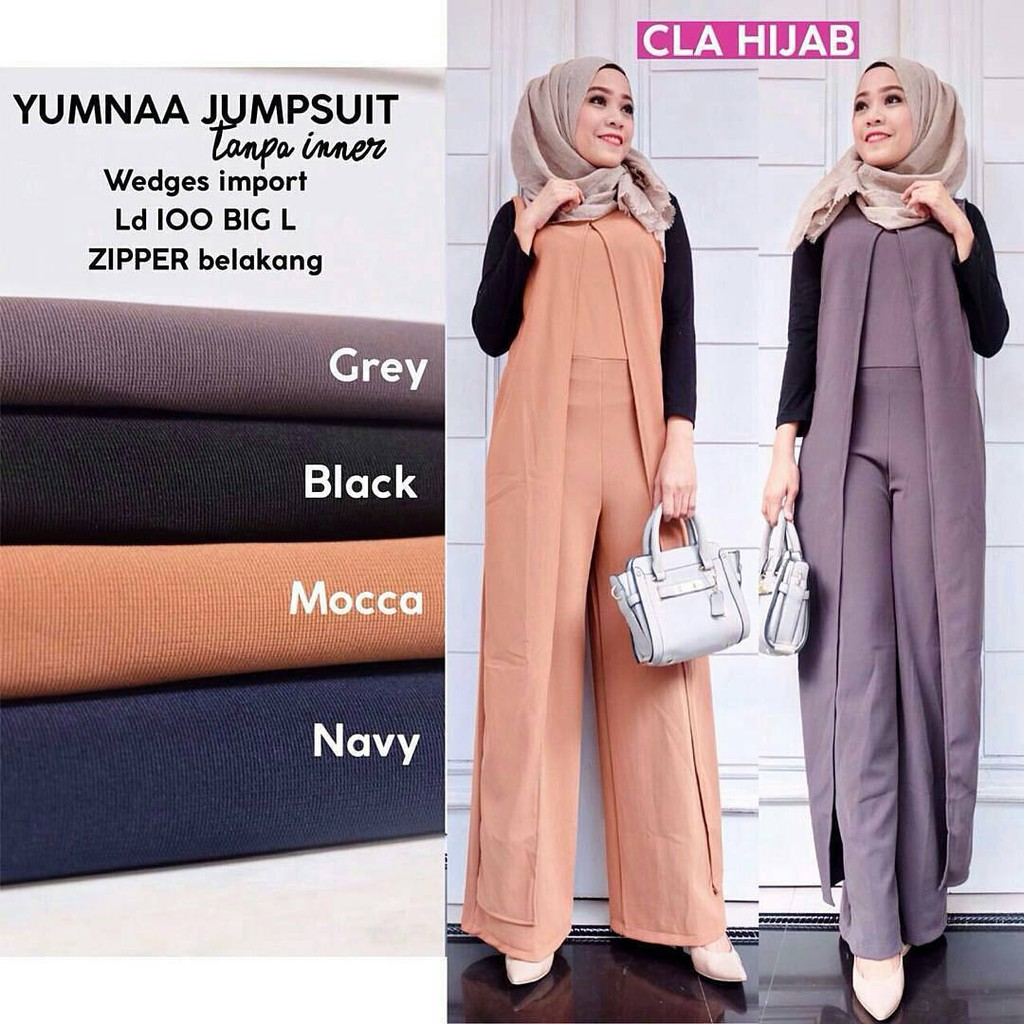 Gea set two in one in black white baju muslim setelan murah wanita cantik  muslimah by lestyanie shop  f905ad3860