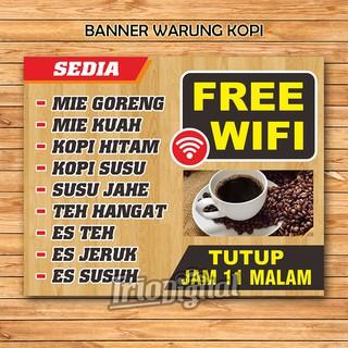 Banner Warung Kopi Free Wifi Shopee Indonesia