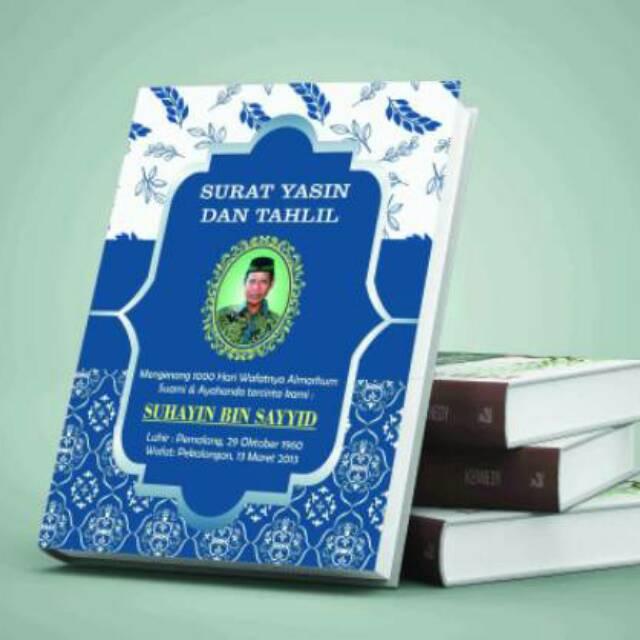Buku Yasin Dan Tahlil Blue Foto