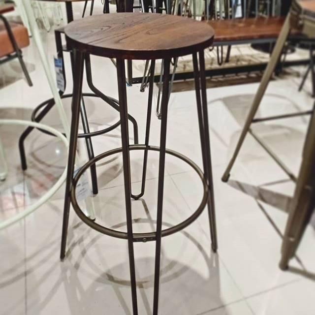 Manley Bar Stool Kursi Bar Informa Kursi Cafe Shopee Indonesia