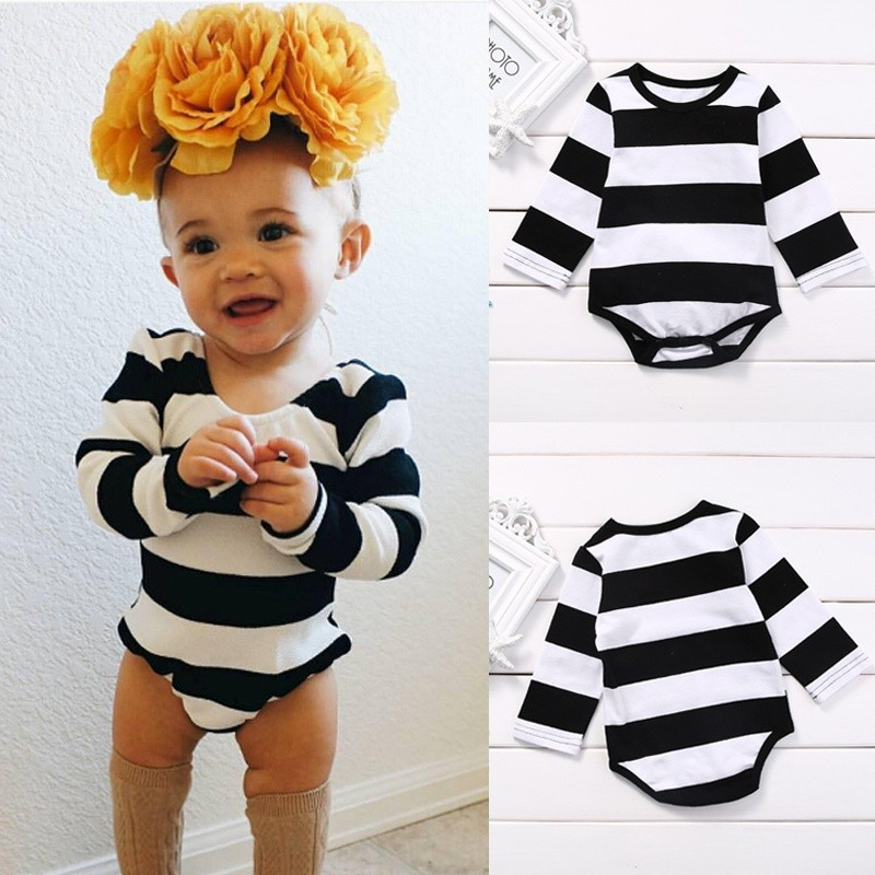 Newborn Kids Baby Boys Girls Cotton Romper Jumpsuit Bodysuit Outfits Clothes