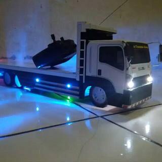 Miniatur truck truk fuso kayu tanpa remot tanpa lampu led ...