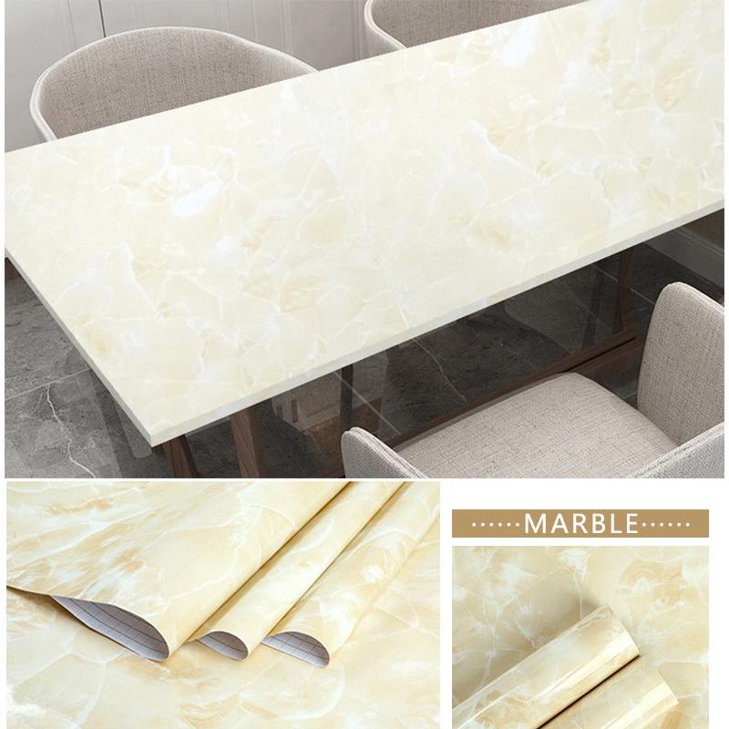 5m Black Marble Wall Sticker Granite Wallpaper Self Adhesive Waterproof Kitchen