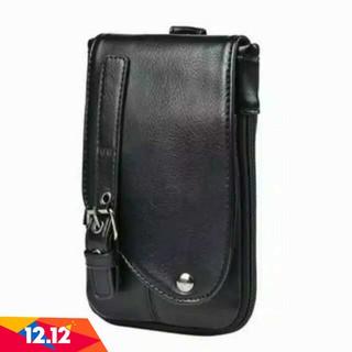 SALE 12.12  TAS PINGGANG SELEMPANG KECIL PRIA KULIT TAS HP SMARTPHONE 5 29be8803c7