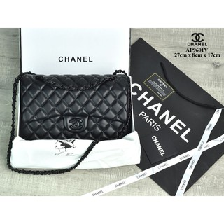 7651607862dbfb TAS IMPORT MURAH- Tas Chanel Classic So Black Medium Lambskin Hitam Semi  Premium AP9601V