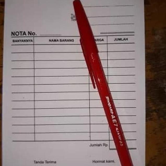 Terbatas Gojek Grab Buku Nota Kontan Kecil 2 Rangkap Q Murah Banget