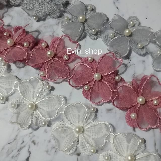 Renda Prada Tile Mutiara 17 Bunga Shopee Indonesia