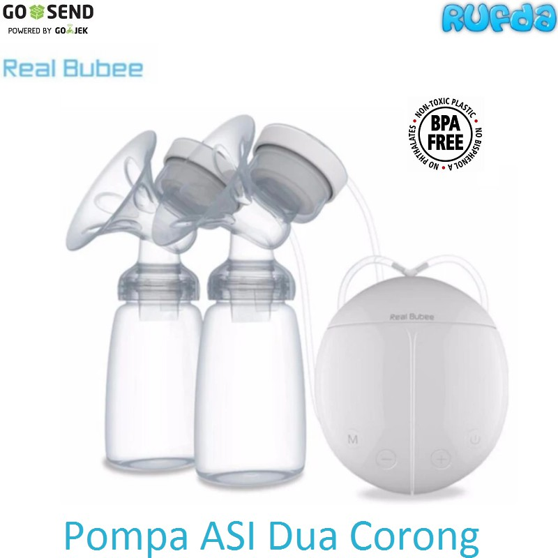 READY Real Bubee/miss baby Pompa ASI Elektrik penghisap/Breast Pump Elektrik gratis pompa silicone   Shopee Indonesia