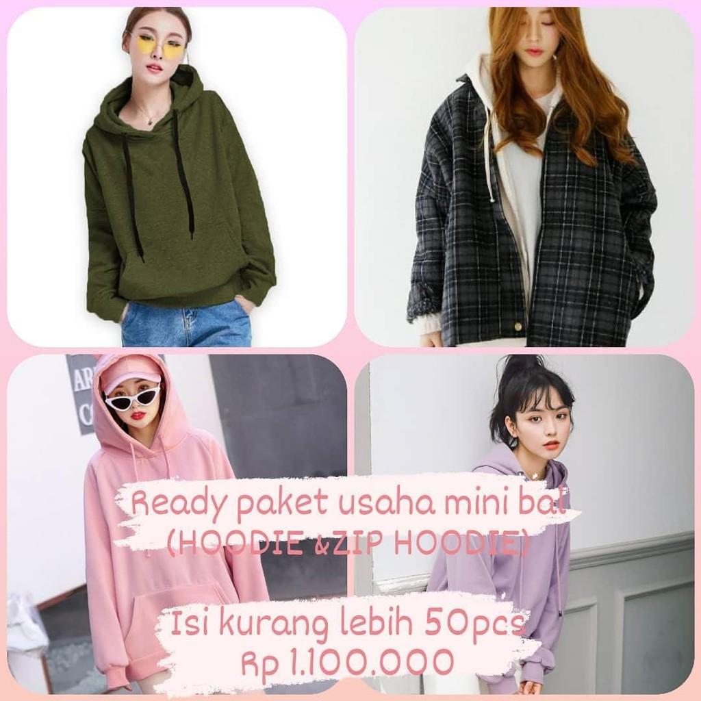 Paket usaha sekarung thrift hoodie import mini bal / bal mini segel