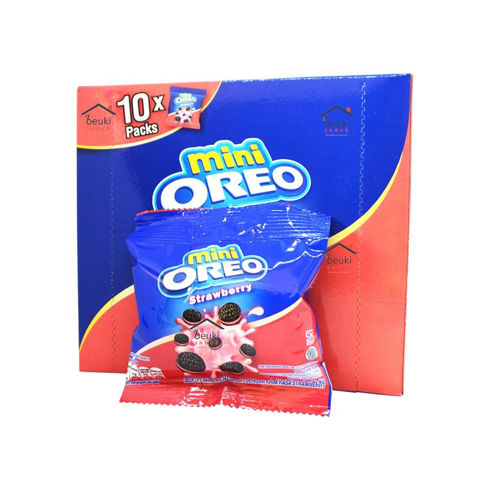 Biskuitkemasan: BOX Oreo Mini Strawberry Biskuit Mini Khas Oreo Rasa