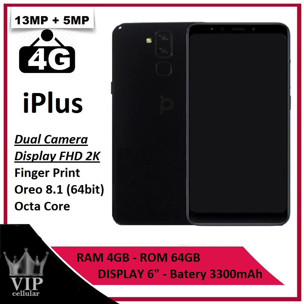 Smartphone Iplus 1 Ram 4gb Internal 64gb 4g Dual Camera Fhd 2k
