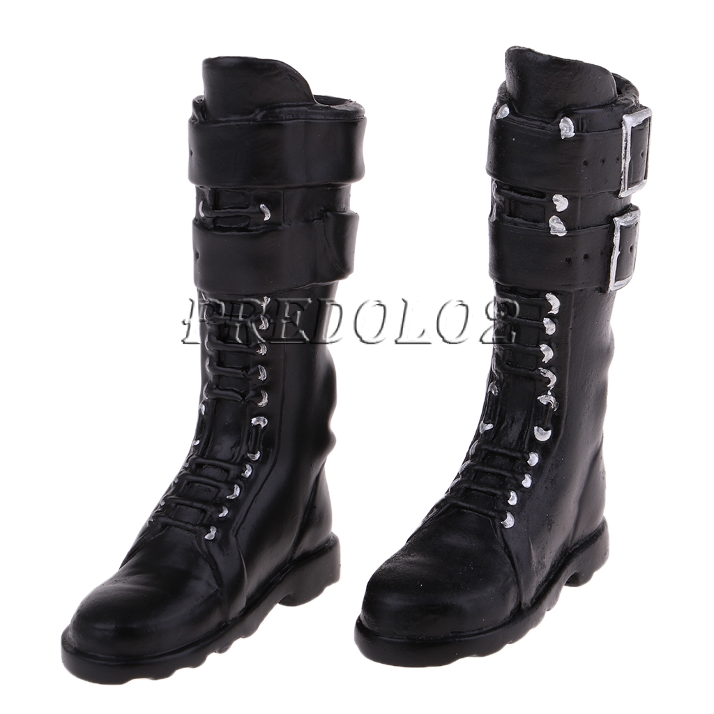2pair 1//6 PU Leather High Heels Long Boots for Phicen Kumik Female Figure