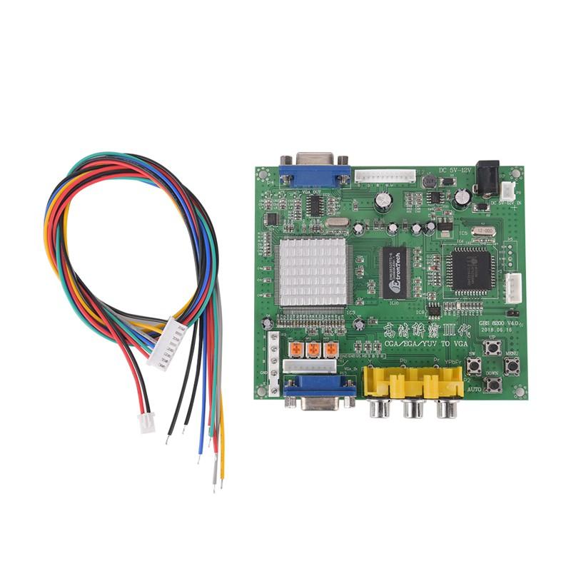 RGBS CGA//EGA to TV and Video Composite converter