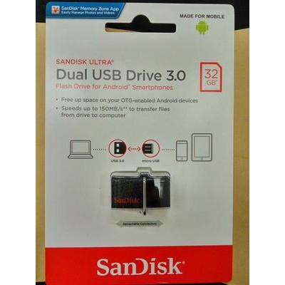 SanDisk Ultra Dual USB Drive Type-C - SDDDC2 32 GB   Shopee Indonesia